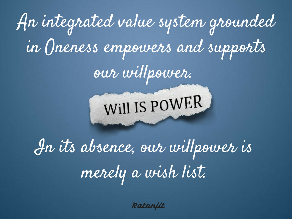 """An integrated value system
