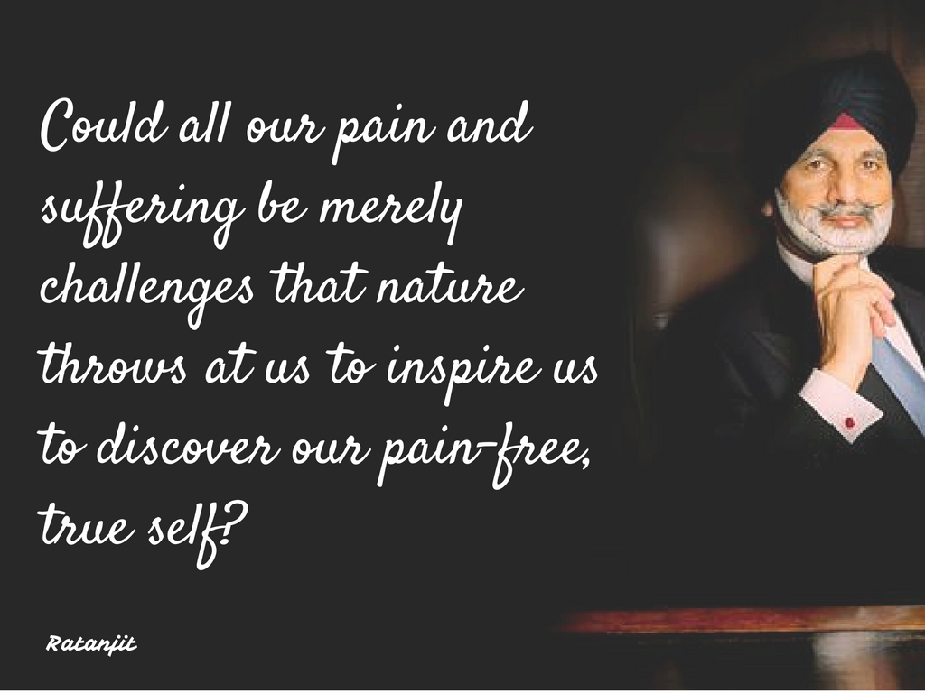 """Could all our pain and