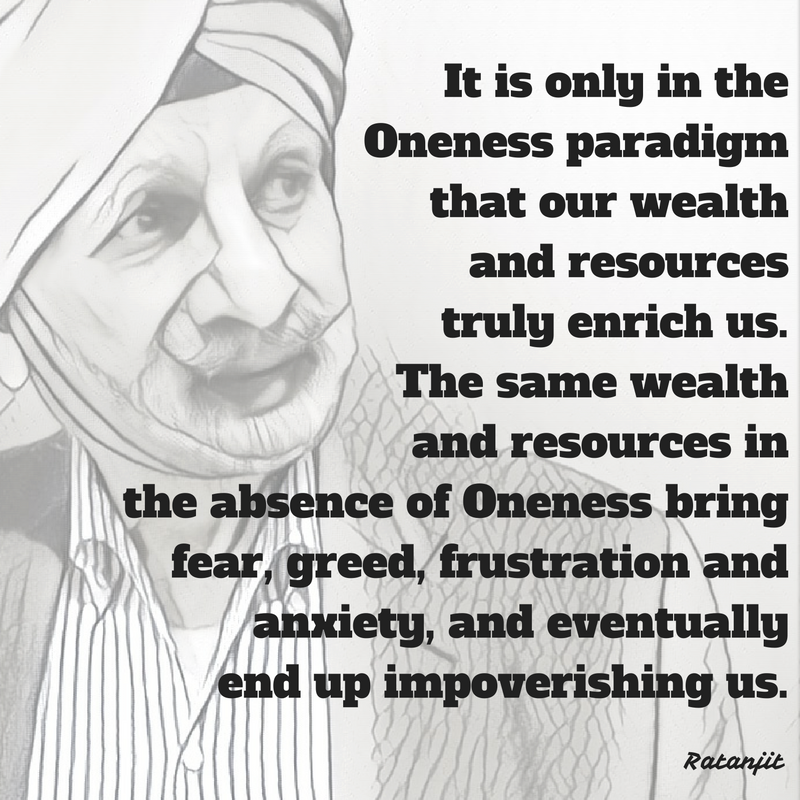 """It is only in the Oneness