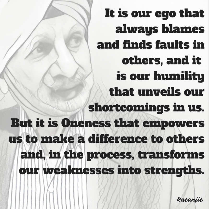 """It is our ego that always