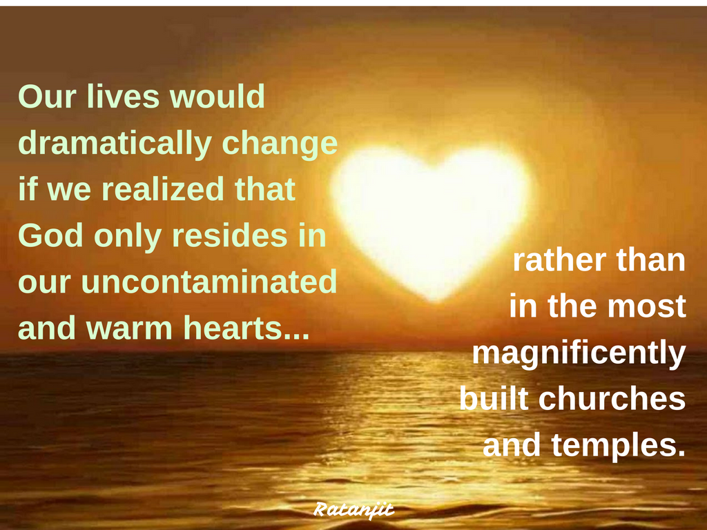 """Our lives would dramatically