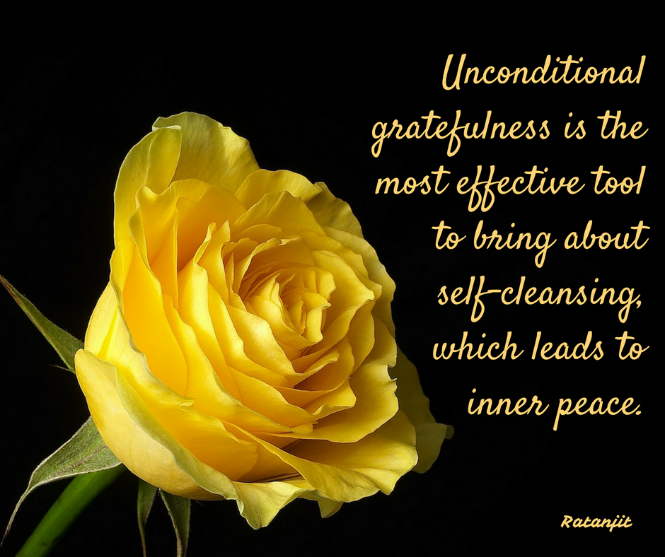 """Unconditional gratefulness