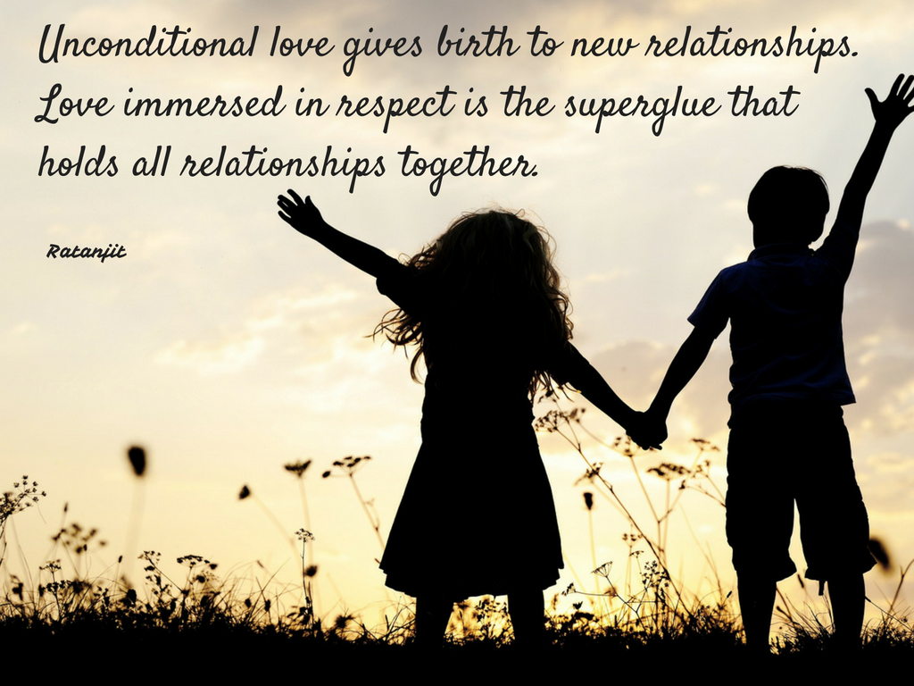 """Unconditional love gives