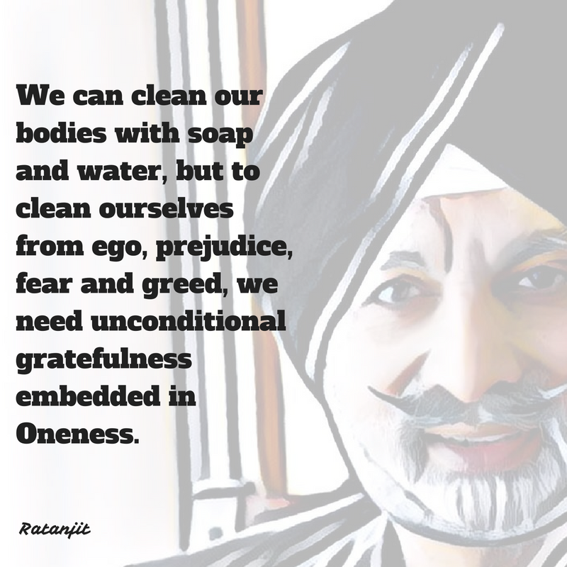 """We can clean our bodies with