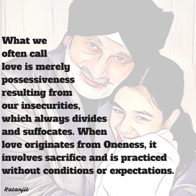 """What we often call love is