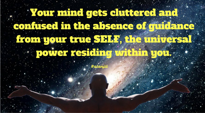 """Your mind gets cluttered and
