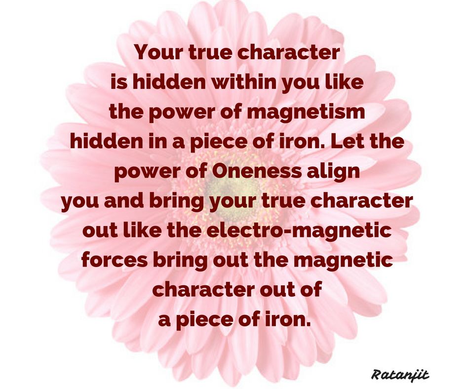 """Your true character is hidden