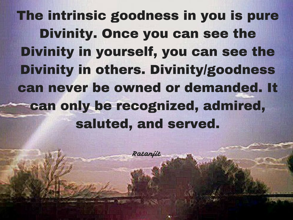 """The intrinsic goodness in