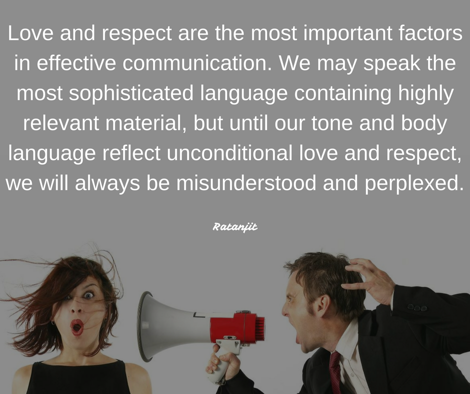 """Love and respect are the